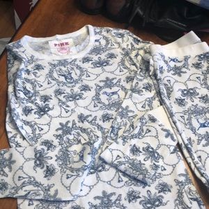VS pink collection two pc thermal pjs